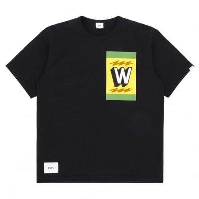 Wtaps design TREMOR 01 TEE  黑色 刺繡 logo 短t