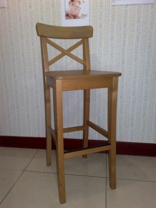 IKEA INGOLF 實木吧台椅 高腳椅 餐椅 仿古染 座高74CM