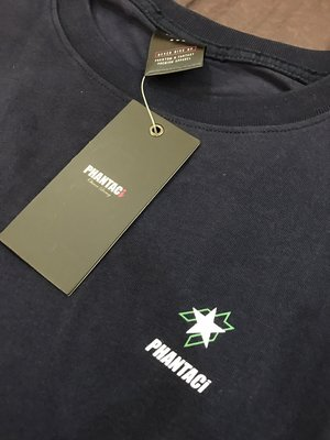 M號 周杰倫PHANTACi 全新 長袖素T基本款Logo深藍色上衣 Navy五芒星星海軍藍