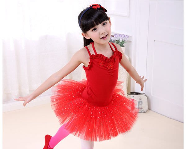 5Cgo 【鴿樓】含稅會員有優惠 25897324532 兒童舞蹈服裝芭蕾舞裙女童舞蹈裙民族短袖練功服演表演服舞衣