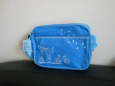 葳葳的店全國電子 浪漫側背包藍色尼龍包斜背包美勞袋補習袋書包