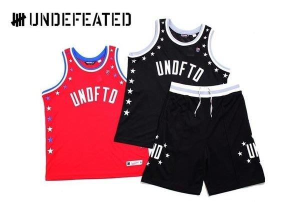 【 超搶手 】全新正品 2014 SS 夏季 UNDEFEATED GLOBAL MESH SHORT 五角星 籃球褲 短褲 黑 紅 S M L XL