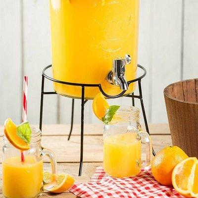 【英國 Kilner】玻璃飲水器圓鐵架 玻璃飲料桶腳架 飲料桶底座 水龍頭玻璃桶立架 架子