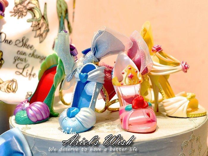 Ariel's Wish-日本東京迪士尼白雪公主灰姑娘睡美人小美人魚貝兒茉莉公主長髮公主七公主高跟鞋鑰匙圈包包吊飾-現貨