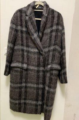 ALL STAINS 海毛長版大衣 外套 帥氣