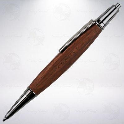 日本 +LUMBER 0.5mm 三角木軸自動鉛筆: 胡桃木/Walnut