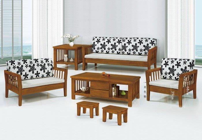 【DH】商品貨號KH8-1商品名稱 《后羿》南洋檜木1.2.3組椅。含可拆洗椅墊/含大小茶几附2張輔助椅。主要地區免運費