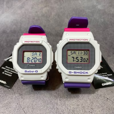 Casio Baby-G G-SHOCK 情侶款 DW-5600THB-7 BGD-560THB-7 一對$1200 可單買