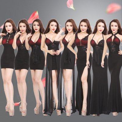 歐洲時尚站-LADY'S宴會晚禮服酒店公關SHOW GIRL制服修身顯瘦性感氣質優雅禮服洋裝-S-2XL