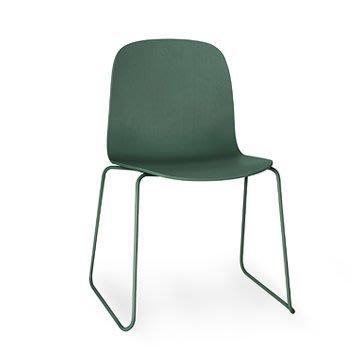 Luxury Life【正品】Muuto Visu Chair on Sled Base 薇蘇 木質單椅 金屬線框椅腳
