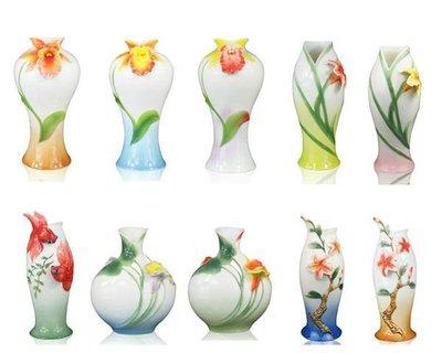 5Cgo 【鴿樓】會員有優惠 15347909129 花瓶  琺琅瓷 彩陶瓷立體花 工藝品家居客廳擺設