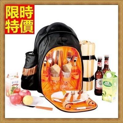 野餐包 2人餐具組 雙肩後背包-超大加厚戶外自駕裝備保溫燒烤野餐包 68ag18[獨家進口][米蘭精品]