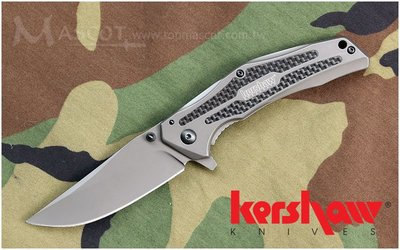【angel 精品館 】KERSHAW 8300 FRAXION-TAN Jens Ansø設計快開折刀 碳纖維+G10