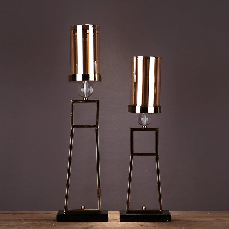 〖洋碼頭〗歐式現代簡約美式樣板間合金玻璃婚慶創意燭光晚餐浪漫燭臺擺件 ysh354