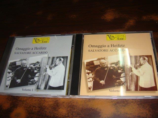 好音悅 Accardo 阿卡多 Omaggio a Heifetz 向海飛茲致敬 小提琴小品集 FONE 2CD