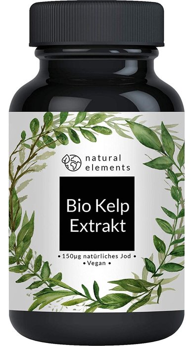 德國 natural elements Kelp 天然海藻丸/褐藻素/褐藻醣/海帶提取物(含天然碘)365入(一年份)