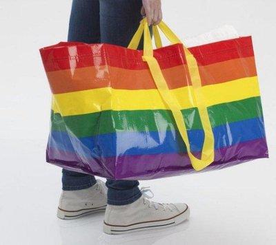 IKEA(宜家家居)彩虹 購物袋