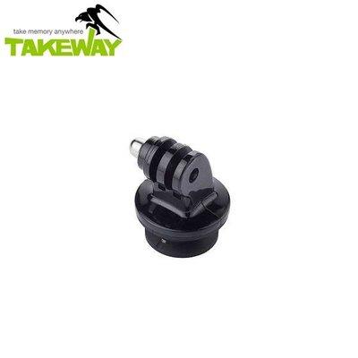 又敗家台灣Takeway運動攝影機快拆板T-RC03快拆板含側向固定適T-B01雲台R1運動鉗T1+鉗腳架GoPro Hero SJ4000快拆座快裝板Plus