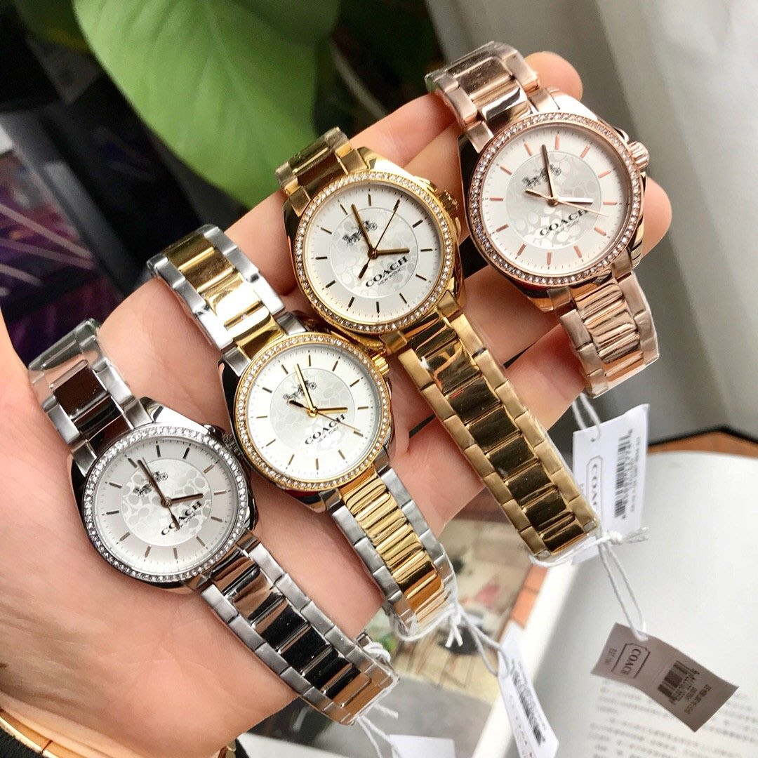 8ea34d402e5e 品牌折扣館美國代購正品COACH 時尚百搭經典馬車LOGO手錶女錶