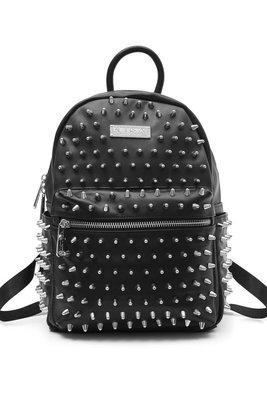 【丹】KS_Ika Spiked Backpack 黑色 點點 刺刺 後背包 肩背包