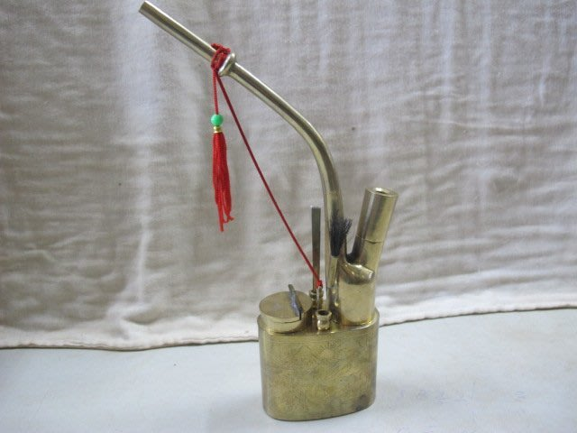 二手舖 NO.2106 銅雕 銅器 青銅器 酒器 擺飾 鼻煙壺