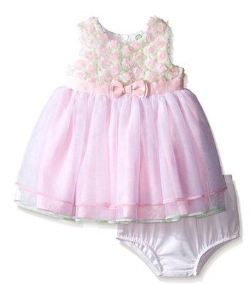 Little Me立體玫瑰蓬裙洋裝禮服2件組24m  :990含運 全家福
