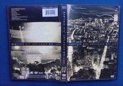 【聲影視界-現場演唱會】 BABYFACE / MTV/ UNPLUGGED/ NYC 1997  (三區)