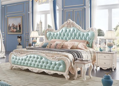 [紅蘋果傢俱] 922# 歐式美式系列 六尺床 床架 工廠直營 數千坪展示