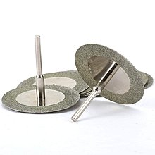帶2包心軸旋轉工具的40Mm金剛石切割輪切割圓盤塗層旋轉工具,適用於Drill Dreme《cheir家居》
