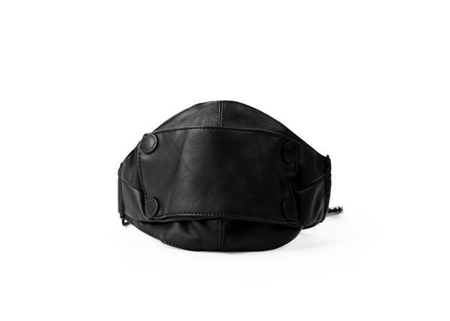 【NoComment】街頭潮流 時尚玩物 忍者造型PU皮設計口罩