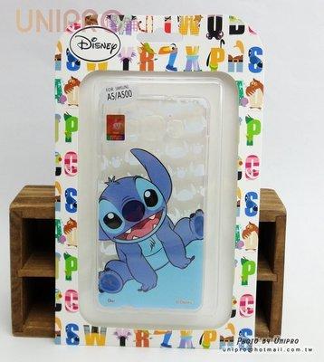 【UNIPRO】三星 A5 A500 迪士尼 史迪奇 TPU 手機殼 保護套