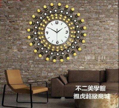 【格倫雅】^大號奢華閃鉆客廳時鐘 歐式現代田園鐘表 個性靜音掛鐘 掛25454[g-l-y7