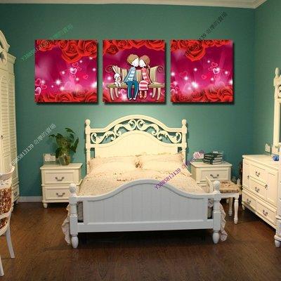 【60*60cm】【厚0.9cm】愛情-無框畫裝飾畫版畫客廳簡約家居餐廳臥室牆壁【280101_120】(1套價格)
