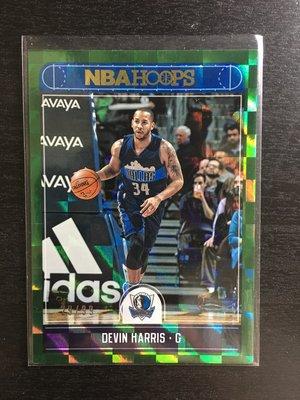 Devin Harris /99 2017-18 NBA Hoops Green Checker 特卡 限量籃球卡