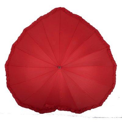 奇奇店-心形花邊新娘創意時尚結婚紅色雨...