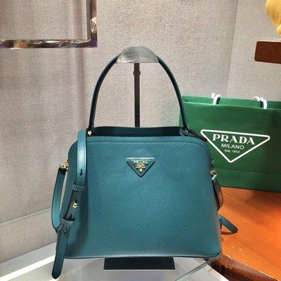 Mina 歐美日韓職業代買 美國免稅州代購 Prada 2020年新款 Matinee 手袋 真羊皮 藝人明星款 湖水綠