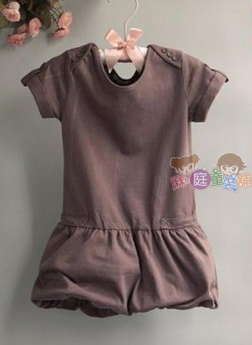 ❤厤庭童裝舖❤最後一件【B167】舒適可愛燈籠休閒洋裝/連身裙(10A)