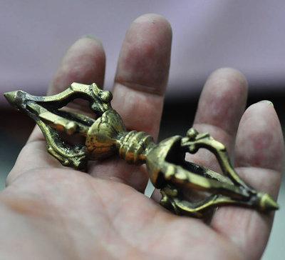 宋家沉香奇楠matotru.3號 古董銅器 佛教法器 密宗 佛教 五鈷杵 純銅 金剛杵