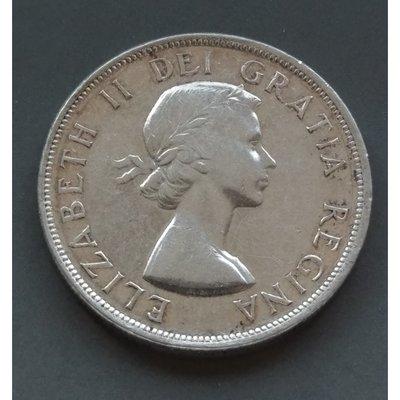 加拿大 CANADA 1953 伊莉沙白二世  1元  銀幣(80%)   280-415