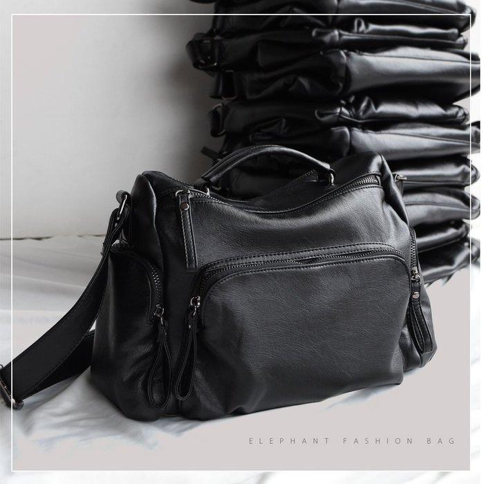 【艾樂芬】獨家訂製 防潑水 仿羊皮 輕量 軟革 手提包 肩背包 斜背包 相機包 雙主袋 休閒包 大容量 通勤包