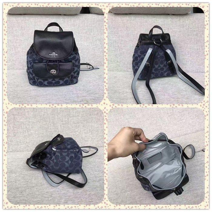 NaNa代購 COACH 57754 兩色可選 帆布小背包 後背包 輕便 迷你 附購證 買即送禮