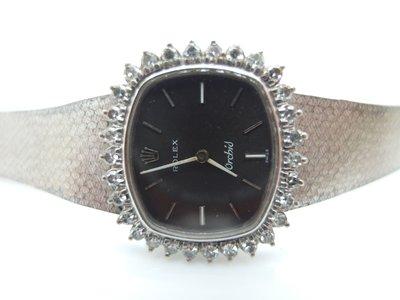 經典珍藏 二手名錶 古董錶 ROLEX Cellini 保單 白 K金 1987