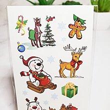 【萌古屋】聖誕節北極熊 - 兒童防水紋身貼紙刺青貼紙SS-09