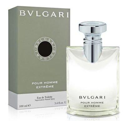 *女主角*~BVLGARI Pour Homme Extrame 寶格麗大吉嶺極緻中性淡香水100ml  滿千折百活動~