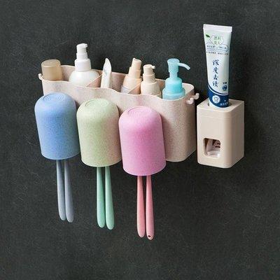 牙刷架置物架 牙刷架吸壁式牙膏盒刷牙杯套裝牙具漱口杯洗漱壁掛吸盤衛生間置物