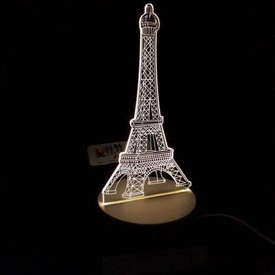 現貨 LED小夜燈 三光源-巴黎鐵塔
