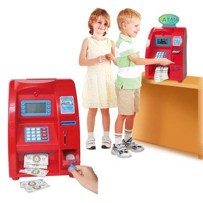 【晴晴百寶盒】台灣品牌 ATM銀行提款機 WISDOM 家家酒遊戲 教具益智遊戲 環保無毒玩具 檢驗合格W904