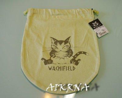 wachifield-dayan(瓦奇菲爾德,達洋)~全新品貓咪布料束口袋~哈蜜瓜色