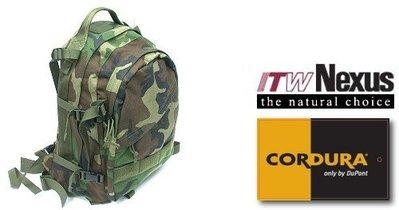 JHS((金和勝 生存遊戲專賣))警星特戰攻擊背包 - Woodland Camouflage B-11C(WC)
