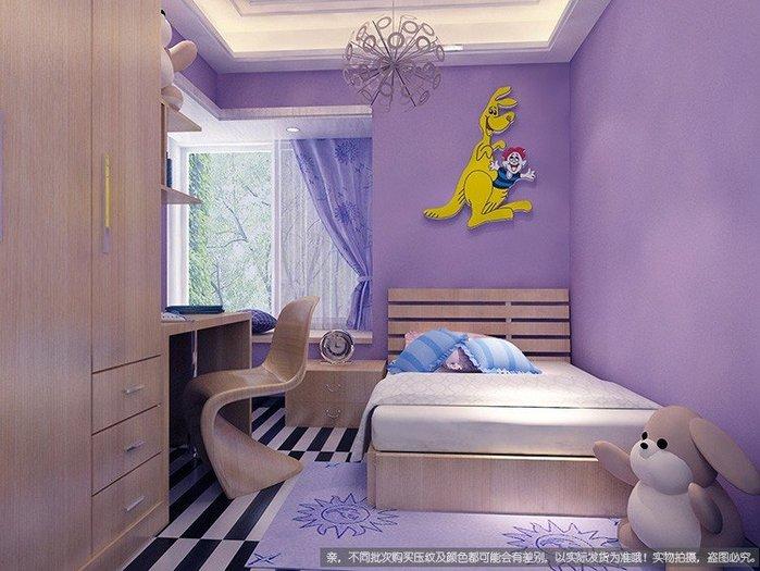 奇奇店-pvc紫色墻紙自粘素色壁紙簡約溫馨宿舍臥室防水純色家具翻新貼紙#加厚 #防水 #耐高溫